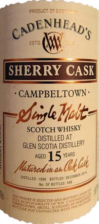 Glen Scotia 1999 CA etykieta