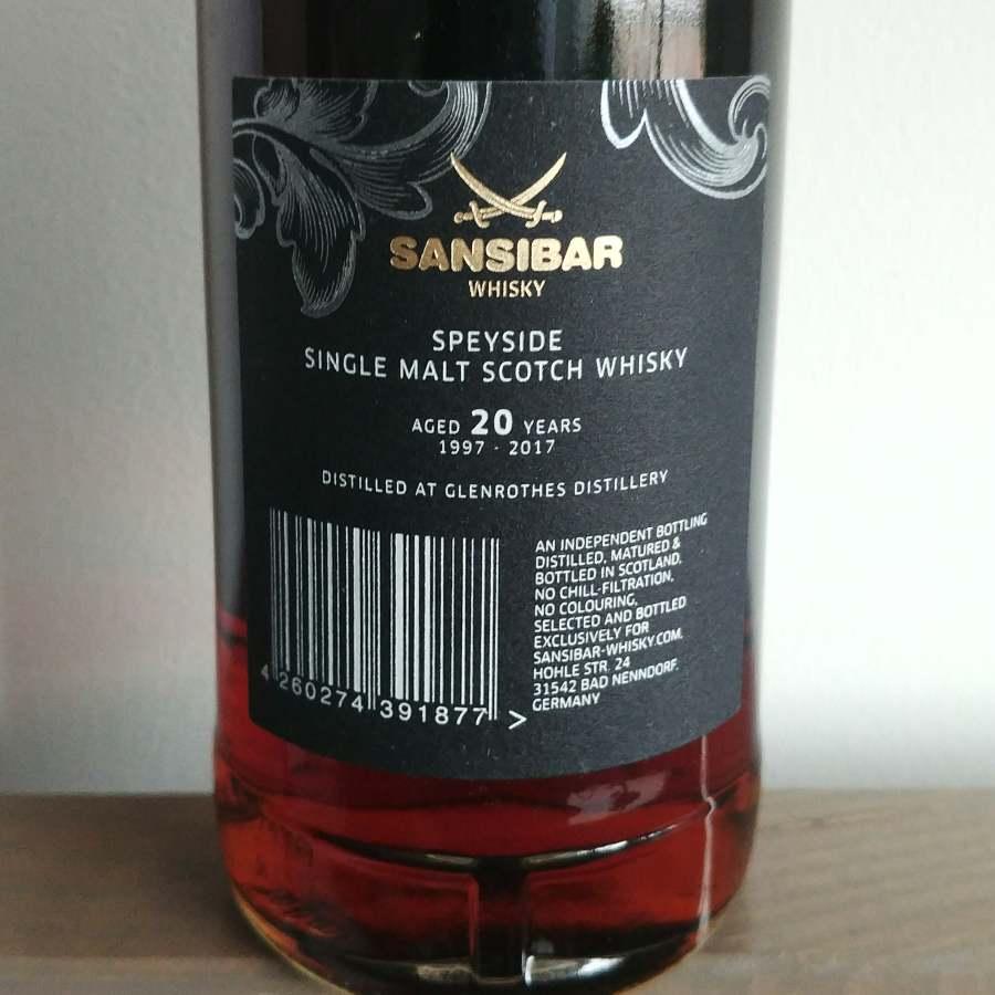 Glenrothes 1997 Sansibar label