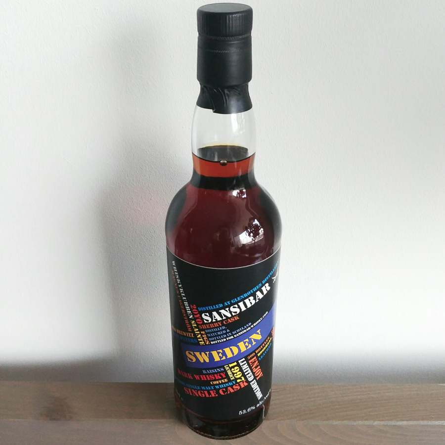 Bottle of Glenrothes 1997 Sansibar for Whiskyklubben Slainte