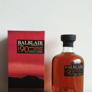 Balblair 1990 vintage whisky